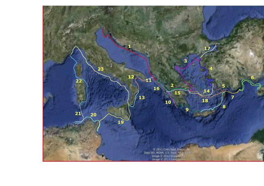 le parcours dans 00 croisière mediterranée préparatifs parcoursdistancecartevectoriel